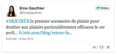 Twitt d'Ema Gauthier